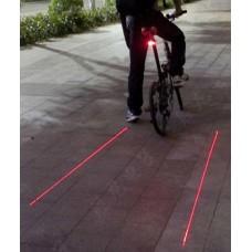 Lézer kerékpár hátsó lámpa
